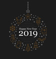 happy new year 2019 lettering design and vector image