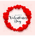 hearts frame for happy valentines day vector image