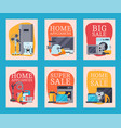 home appliances sale cards flat vector image vector image