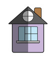 house with roof and window vector image vector image