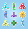 icons set with fidget spinners vector image