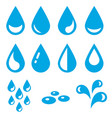 icons water drops isolated on white vector image