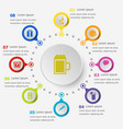 infographic template with party icons vector image vector image