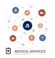 medical services colored circle concept with vector image vector image