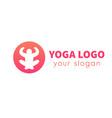 meditation icon yoga vector image vector image