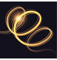 moion light effect lens flare glowing spyral vector image vector image