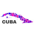 mosaic cuba map of square elements vector image
