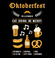 oktoberfest design template for invitation vector image