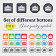 open icon sign Big set of colorful diverse vector image vector image