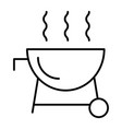outdoor grill thin line icon barbecue vector image