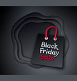 paper cut style black friday vector image