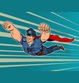 police superhero the policeman cop is flying vector image vector image