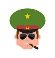 russian officer smoking cigar emotion avatar
