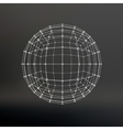Scope of lines and dots Ball of the lines vector image vector image