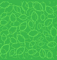seamless spring green leaves background vector image