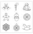 Set Christmas Thin Line Icons vector image vector image