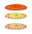 set color plates with white polka dot pattern vector image