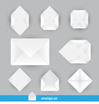 set of envelope vector image vector image