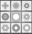 Set of ethnic ornamental floral pattern Hand drawn vector image vector image