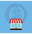 shopping market store vector image