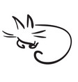 simple funny cat vector image vector image