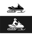 snowmobile with man driving and no man sign side vector image vector image