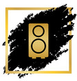 speaker sign golden icon at vector image