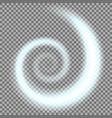 spiral of light aqua color vector image vector image