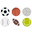 sports balls icon set vector image vector image