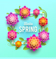 springtime greeting card with flowers vector image vector image