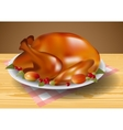 Thanksgiving turkey fried vector image vector image
