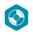vinyl record icon simple style vector image vector image