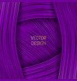 volumetric frame on saturated purple background vector image