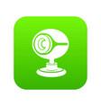 web camera icon green vector image
