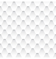 White seamless rhombus pattern vector image vector image
