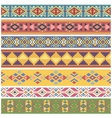 Ancient geometric native american tribal graphics vector image