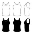 Mans Top Tank in Black and White vector image