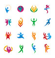 abstract people silhouette teams and groups vector image
