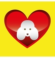 poodle dog face design icon vector image