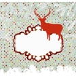 Template vintage with deer and snowflake EPS 8 vector image