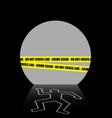 a crime scene in the dark tunnel vector image