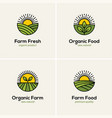 agriculture and farming logo set vector image