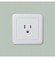 American electric socket 05 vector image