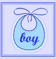 baby bib for boy vector image