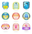 Baby shower emblems vector image vector image