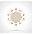 Beige flat color sun icon vector image vector image