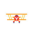 biplane icon on white vector image