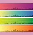 budapest multiple color gradient skyline banner vector image