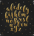 calligraphic letters set vector image vector image