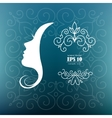 card with profile woman vector image vector image